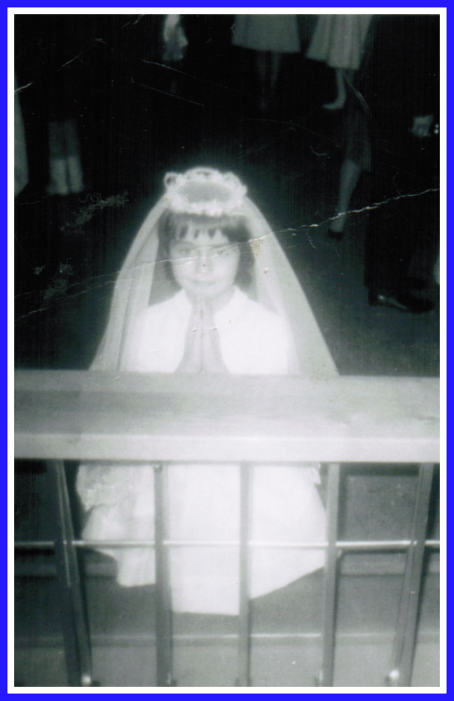 Marianne Belair at her First Communion in 1968