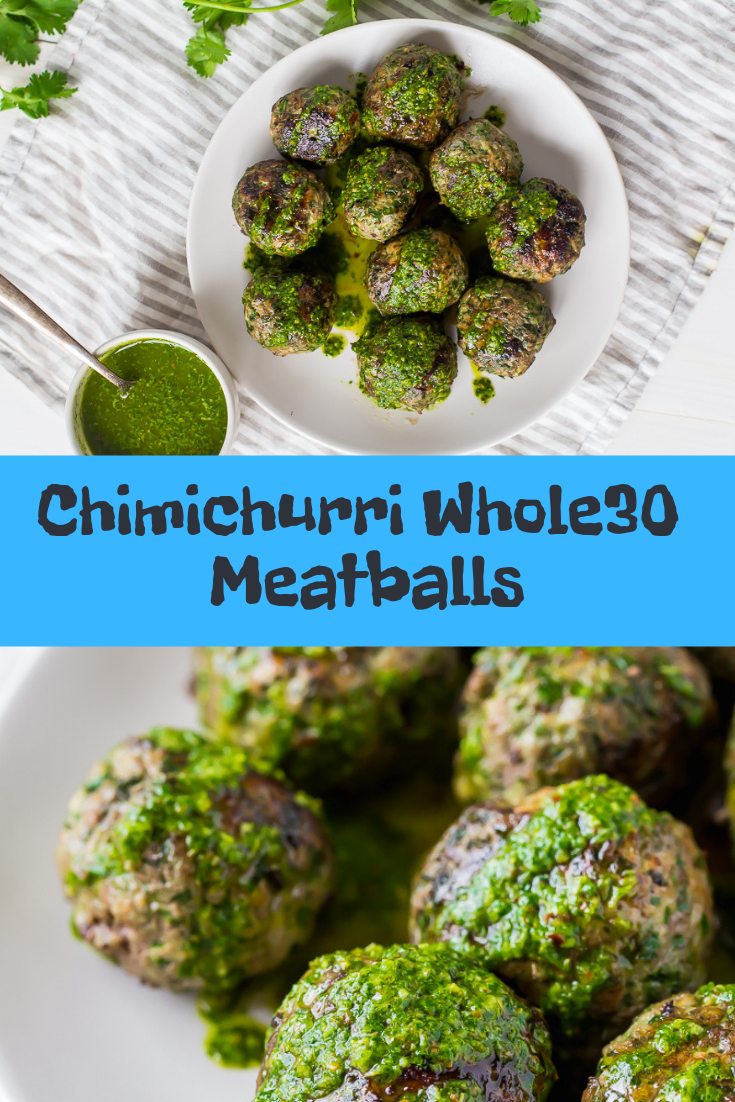 Chimichurri Whole30 Meatballs Recipe
