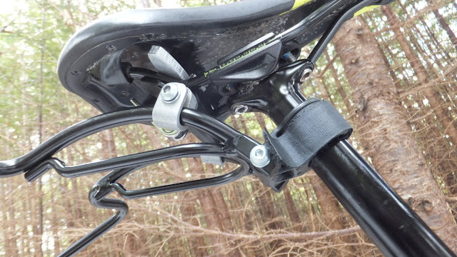 Arkel Rollpacker 25 bikepacking rear hanger mounted