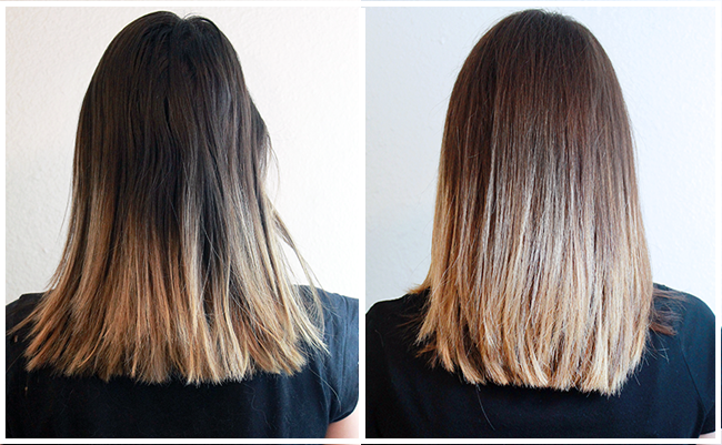 Before and After with John Frieda Visibly Brigher
