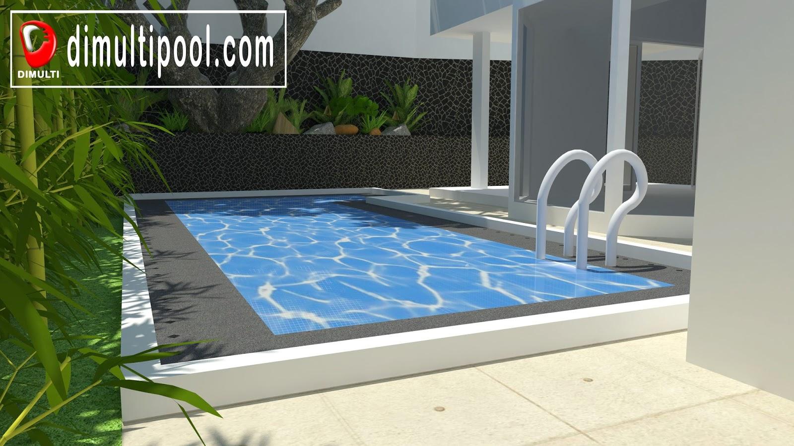 desain kolam renang minimalis 3d