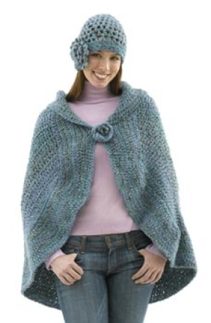 Crochet Patterns Capes : Miss Julias Patterns: Cozy Capes to Knit - Crochet & Free Patterns