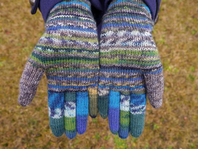 gants en tricot paumes ouvertes