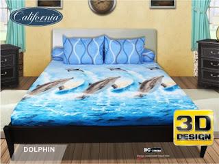 Sprei california 3D Dolphin