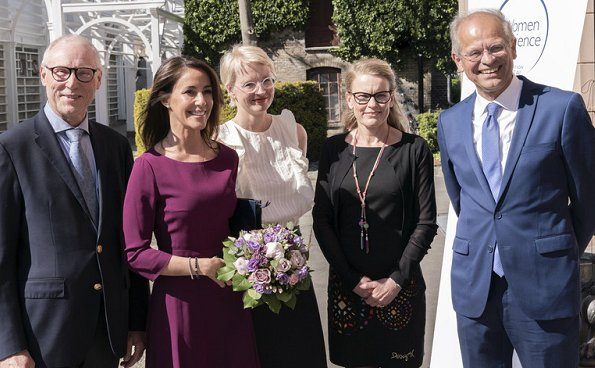 Princess Marie wore Hugo Boss Kusima fitted dress. Stine Linding Andersen, Maria Andreasen and Vida Engmann