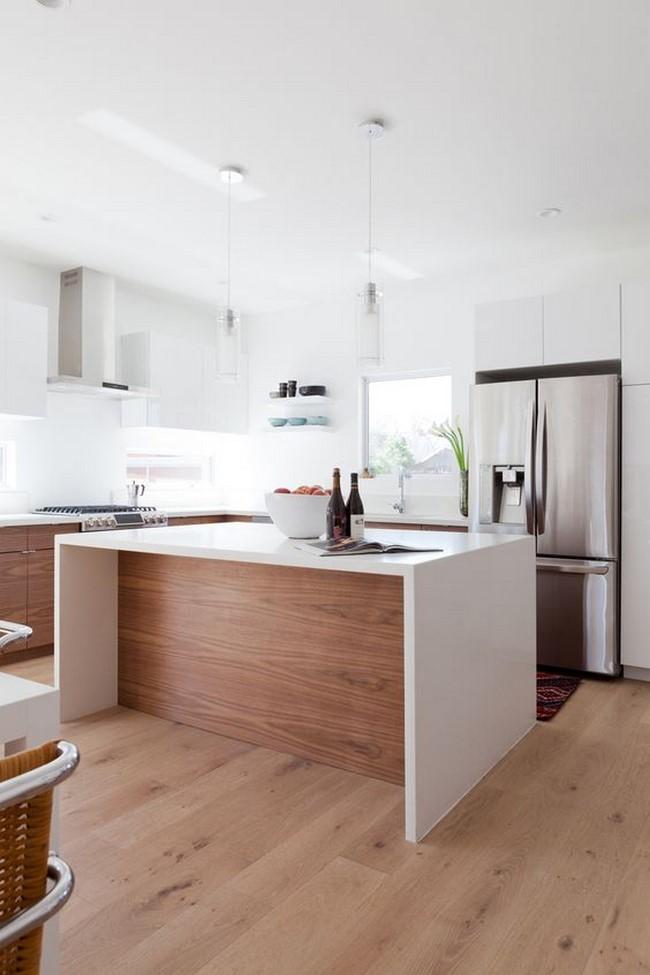11 cocinas blancas modernas for Cocinas blancas