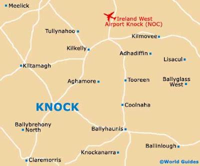 Map Of Ireland Knock.2011 Learscail Na Cathrach Reigiunach Na Heireann