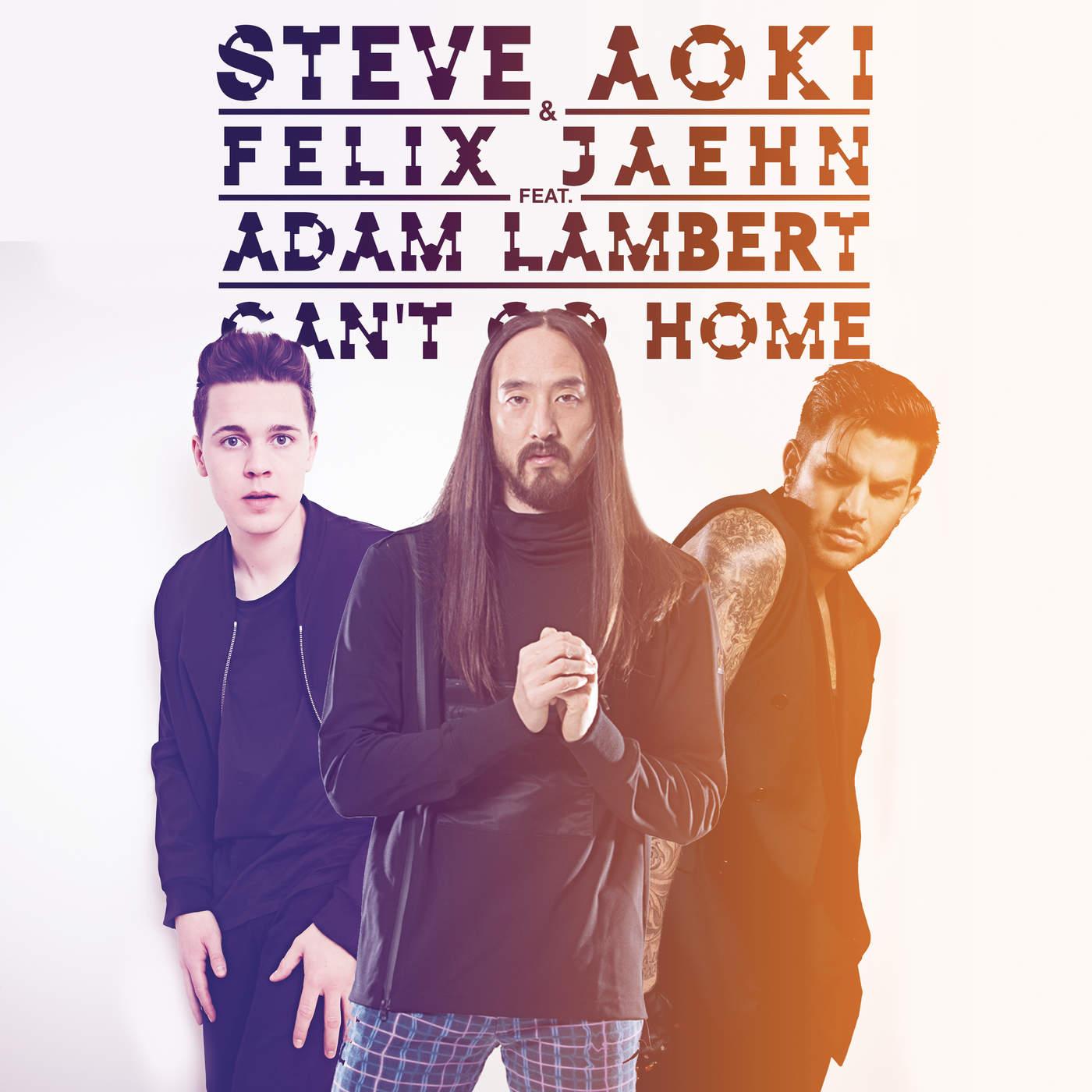 Steve Aoki & Felix Jaehn - Can't Go Home (feat. Adam Lambert) [Radio Edit] - Single Cover