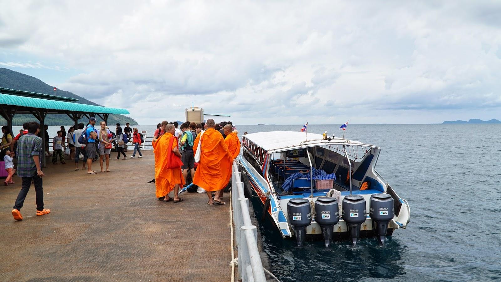 Arriving in Koh Lipe's 'floating jetty'. Hold on, we aren't in Koh Lipe yet
