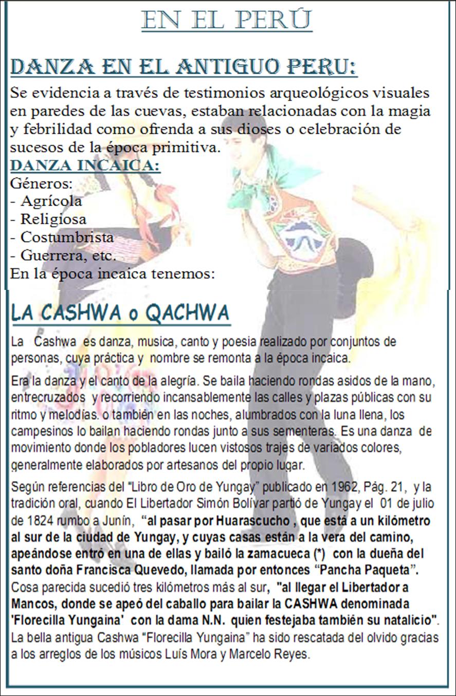 Creando Arte Con Elarte 4 1 Evolucion De La Danza En El Peru
