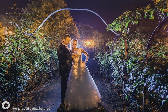 fotografia ślubna plener nocą