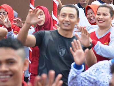 Endro Satoto Hadiri Jalan Santai Peringati HUT Lalulintas Bhayangkara