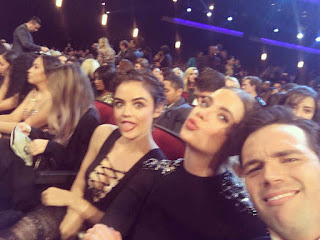 Lucy Hale, Ashley Benson and Ian Harding at People's Choice Awards 2016