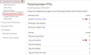 duplicate content webmaster tool