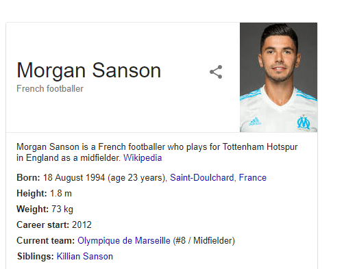 Wikipedia Suggest Morgan Sanson Is Already A Spurs Player