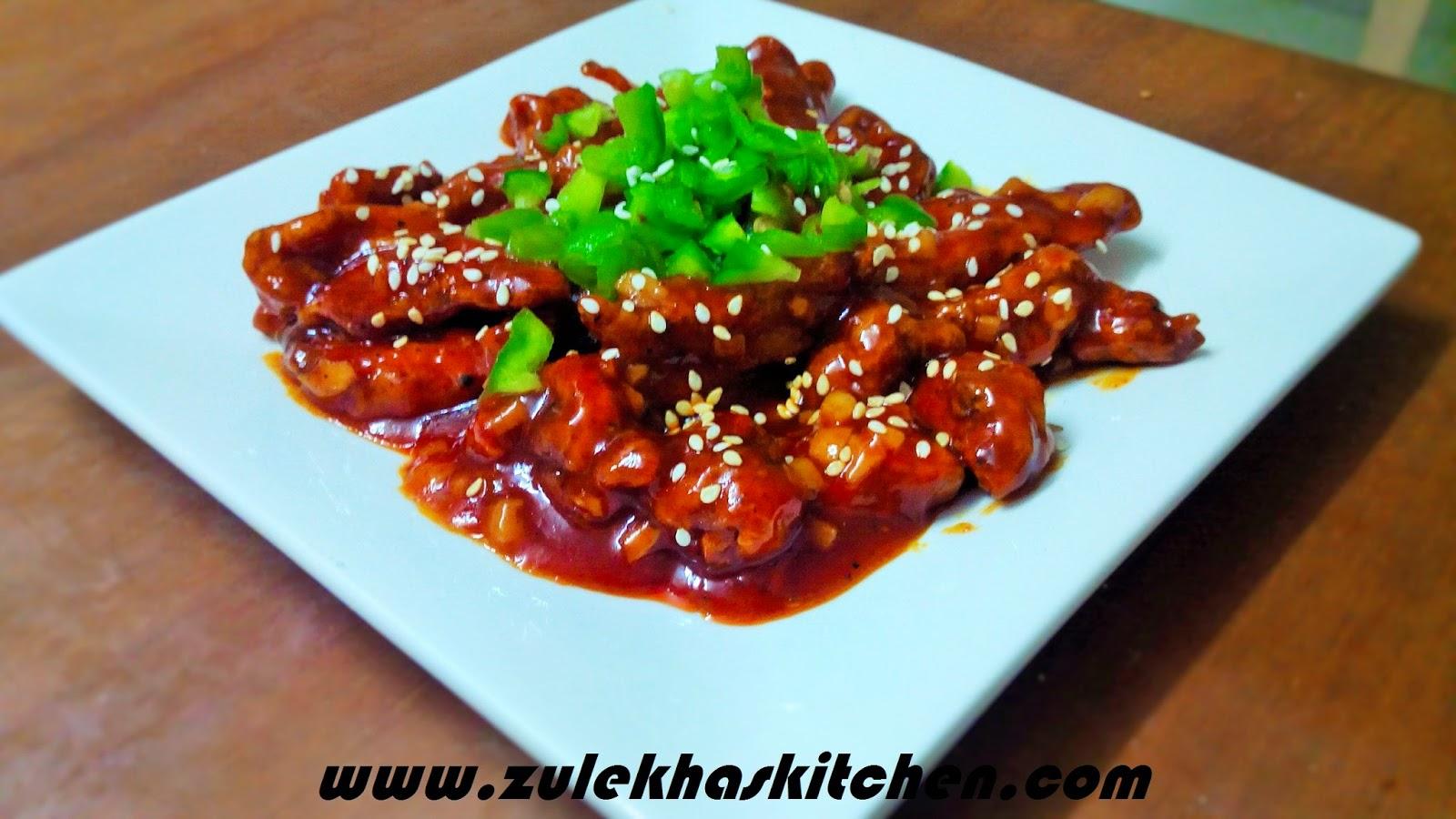 hot garlic chicken