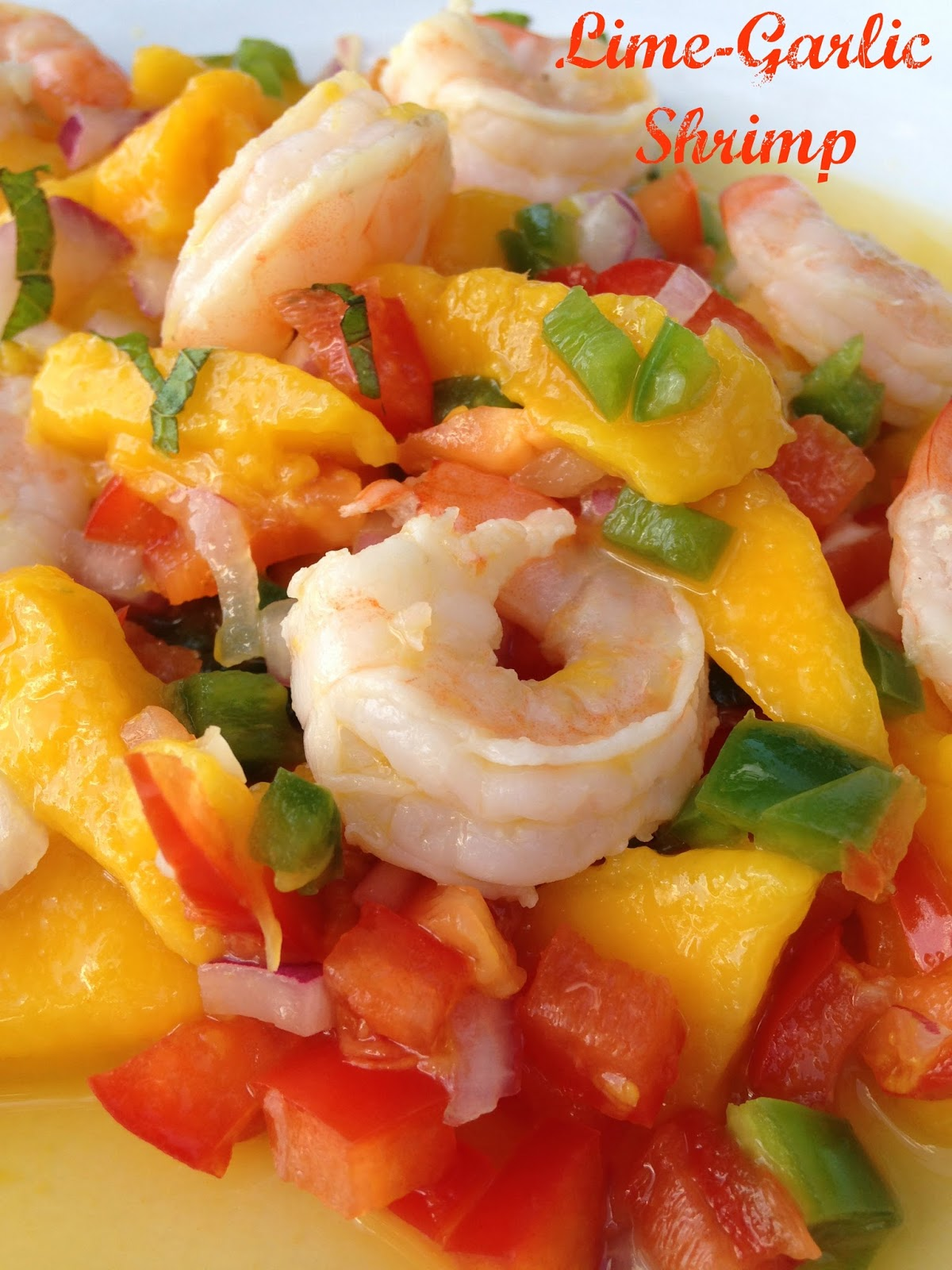 Turnips 2 Tangerines: Lime-Garlic Shrimp with Mango-Mint Salsa