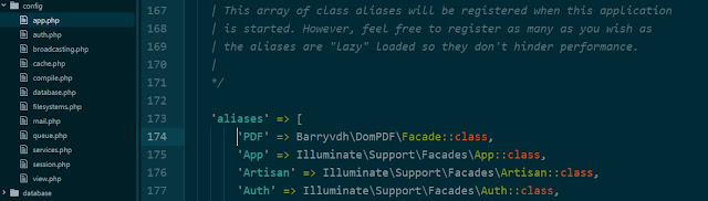 Facade DomPDF Laravel Framework