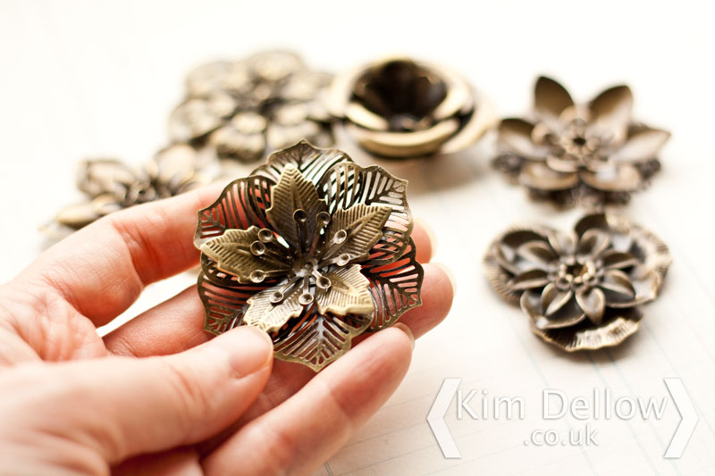 Metal Filigree Flower Embellishments From The Bead & Button