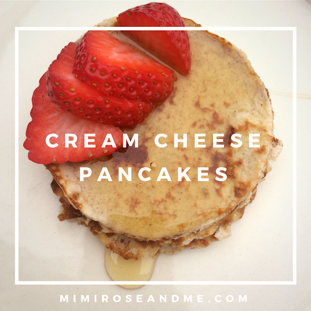 RECIPE | Low Carb, Gluten Free Cream Cheese Pancakes | MIMI ROSE AND ...