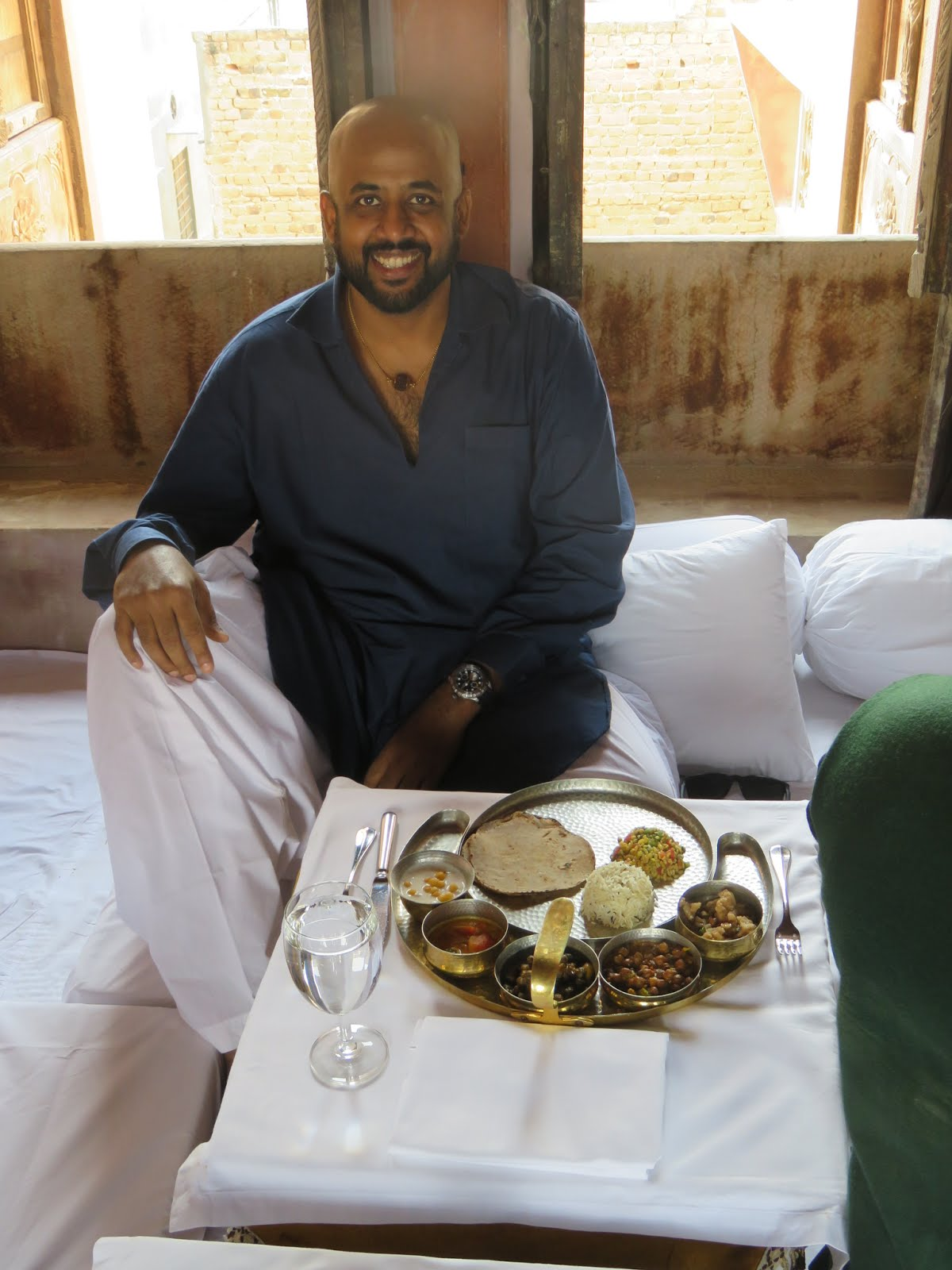 Marwari Lunch time at a haveli in Bikaner