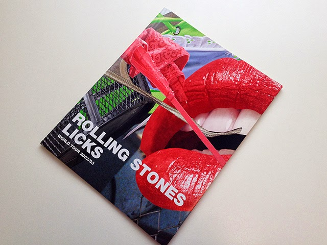 『THE ROLLING STONES LICKS WORLD TOUR』パンフレットデザイン