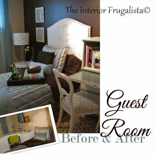 Guest room makeover before and after picture
