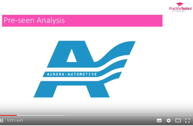 Pre-seen video analysis of MCS August 2017  Aurora Automotive - CIMA Management Case Study - PTA