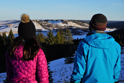 Snowshoeing at Reesor Lookout, Cypress Hills Provincial Park