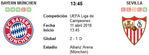 Bayern Munich vs Sevilla en VIVO