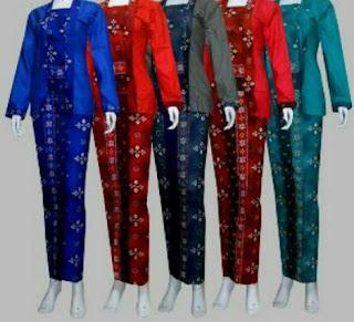Foto Baju Kebaya Jumputan Pilihan Warna Trend Terbaru