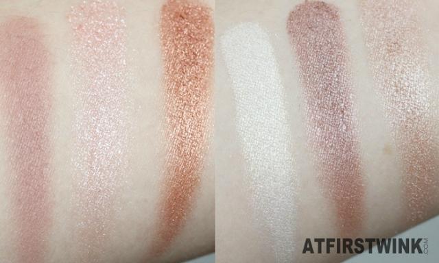 MUA (makeup academy) eyeshadow palette - Spring Break swatches (left part)