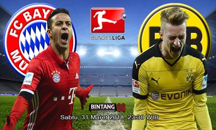 Prediksi Skor Bayern Munchen vs Dortmund 31 Maret 2018