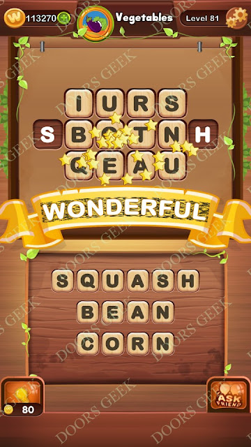 Word Bright Level 81 Answers, Cheats, Solutions, Walkthrough for android, iphone, ipad and ipod