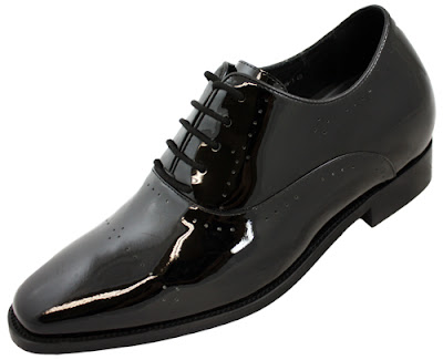 patent leather tuxedo elevator shoes x02181