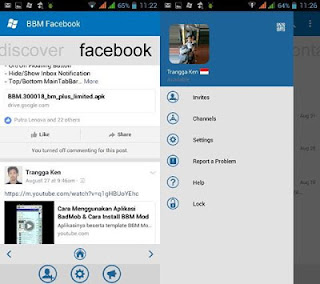 BBM MOD WINDOWS PHONE FACEBOOK V3.0.1.25 TERBARU 2016