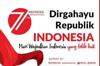 New Release Banner 17 Agustus 2016  HUT RI Ke 71 Indonesia Medeka Kerja Nyata