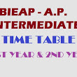 AP Intermediate 1st and 2nd Year Time Table 2016 (Revised)