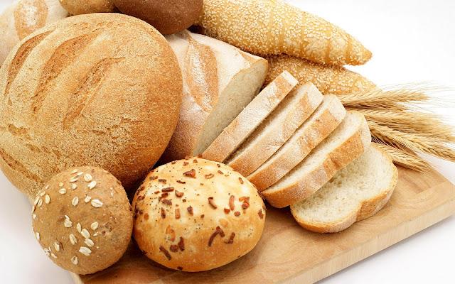 Heerlijk vers brood achtergrond