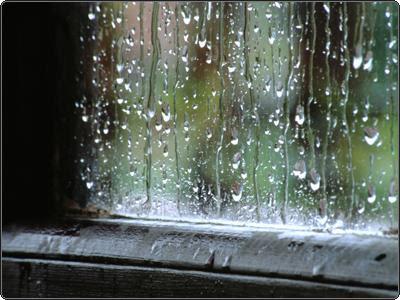 Foto de lluvias en una ventana
