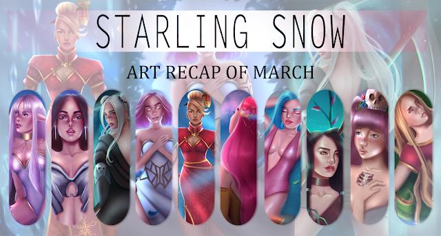 My Art Recap of March! | Digital Paintings