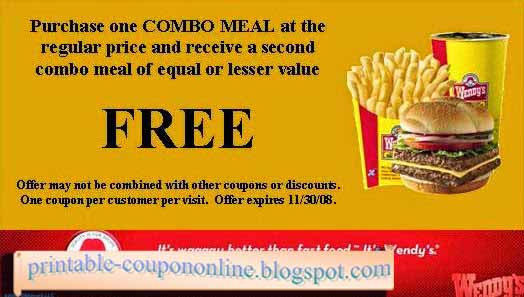 graphic about Printable Wendys Application known as Wendys printable discount coupons / Usave vehicle condo coupon codes