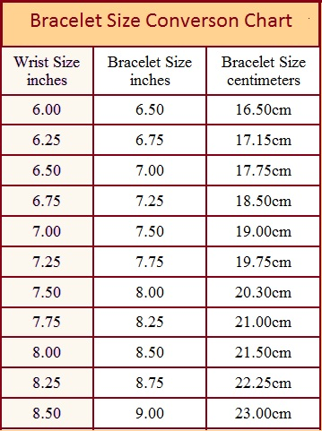 average bracelet sizes bracelet wire galleries bracelet size 8595