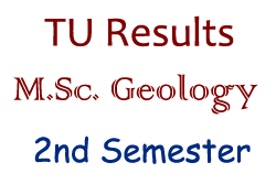 M.Sc. Geology 2nd Semester Exam Result - Tribhuvan University