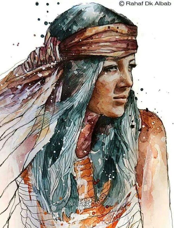 Сирийский художник и иллюстратор. Rahaf Dk Albab