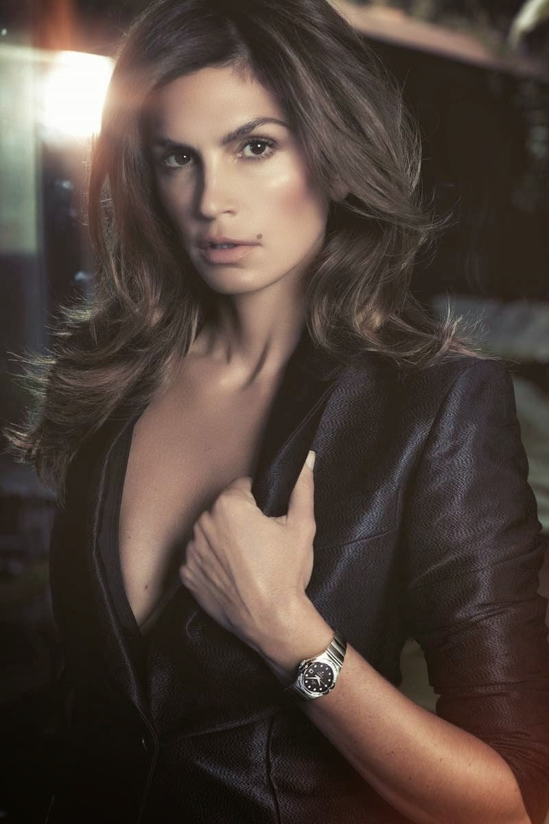 Cindy Crawford S Daughter Talks: Smartologie: Cindy Crawford For Omega Watches Spring 2014