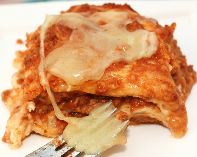 lasagna mexican style with beans and cheese