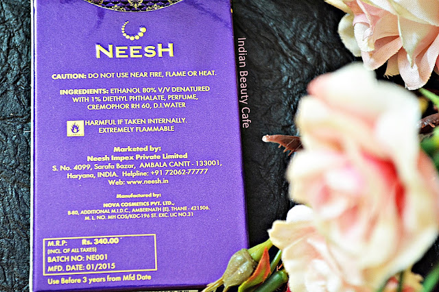 Neesh Perfumes Ingredients