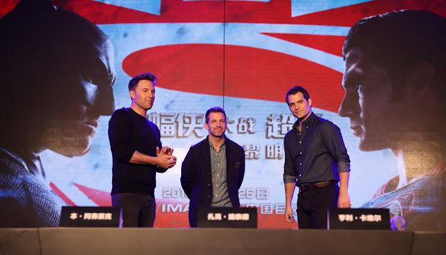 batman v superman beijing tour ben affleck zack snyder henry cavill