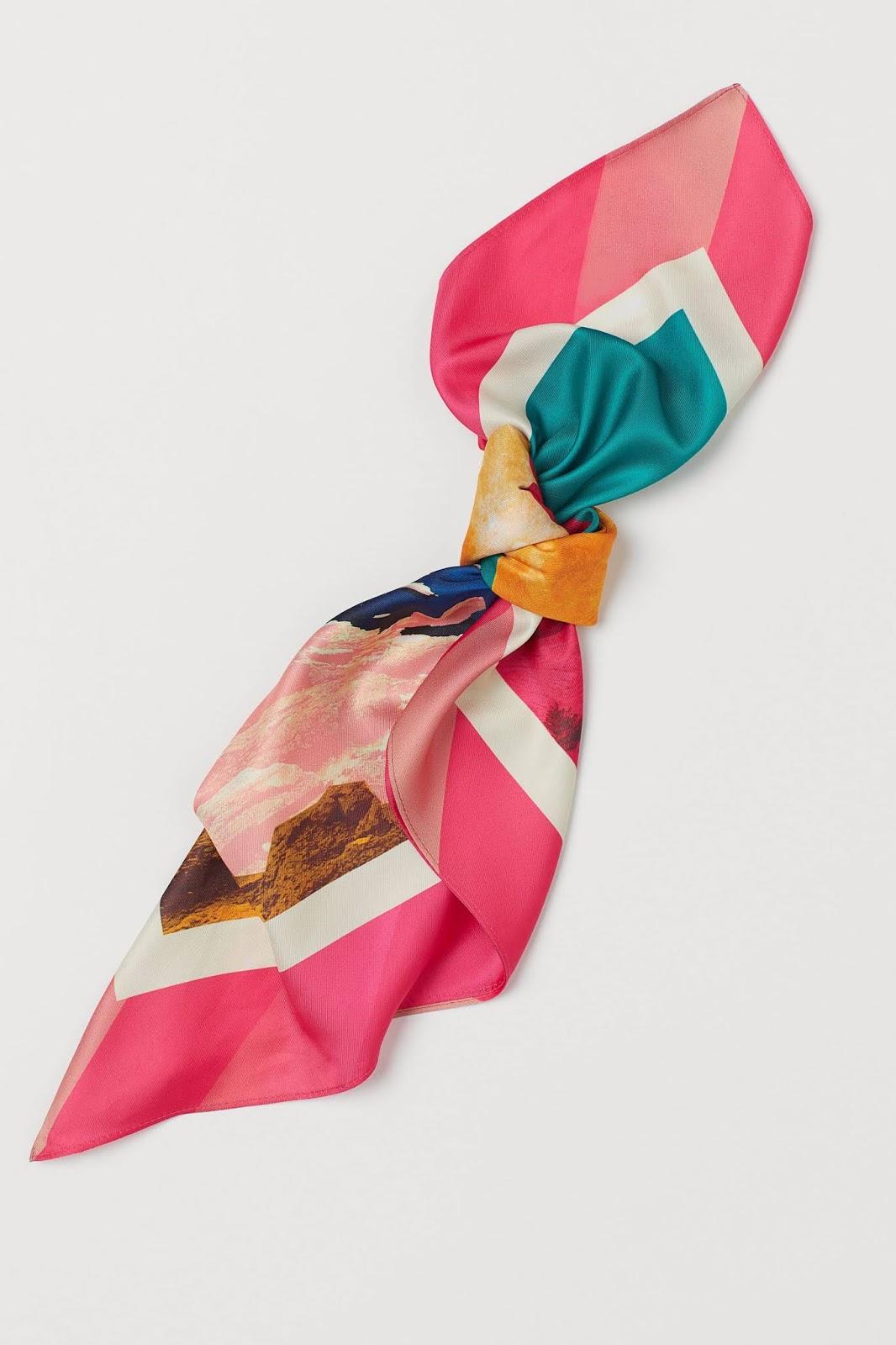 printed satin scarf